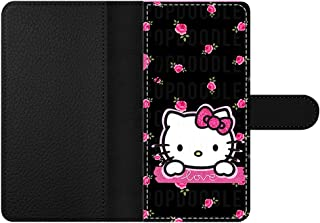GSPSTORE Samsung Galsxy S6 Edge/S6/S5/S4 Wallet Case,Hello Kitty Pattern PU Leather Push Style Case with Pockets,Card Holder for Galsxy S6 Edge/S6/S5/S4#09