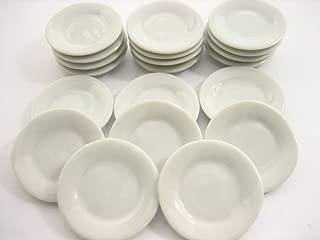 20x25mm White Round Plates Dish Ceramic Kitchenware Dollhouse Miniature 10854