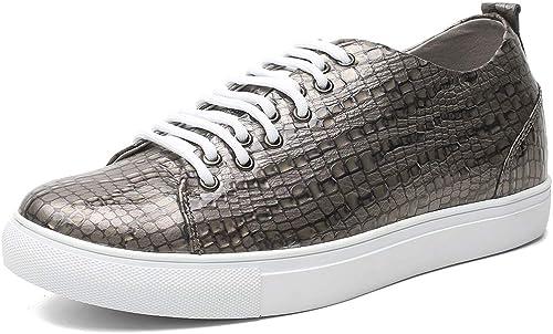 CHAMARIPA Zapato con Elevador para Hausschuhe de Cuero para Hombre - Aumente la Altura 6 cm - H81C55D293D