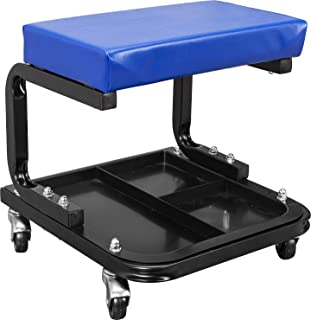 TCE ATR6300U Torin Rolling Creeper Garage/Shop Seat: Padded Mechanic Stool with Tool Tray...