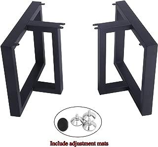 "MBQQ Furniture Legs 15.7""Height 17.5""Wide Rustic Decory T Shape Table Legs,Heavy Duty Metal Desk Legs,Dining Table Legs,Industrial Modern, DIY Cast Iron Bench Legs"