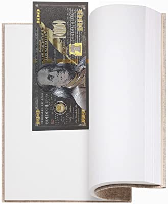 JHGCVX 6 Sheets 100 Dollar Bill Gold Foil Bookmarks,Perfect Black Gold Crafts,Great for Classrooms, Book Clubs, School Libraries