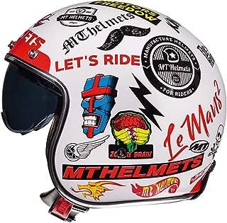Lyanh Open Helmet, DOT Approved Motorcycle Retro Harley 3/4 Half Helmet, Cruiser Four Seasons Men and Women + Goggles Mask,XL