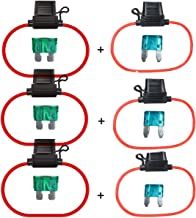 Pack of 18 Pcs BOJACK 6x30mm 5A 5amp 250V 0.24x1.18 Inch F5AL250V Fast-Blow Glass Fuses
