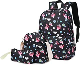 Backpacks for Girls Cute Pony School Bags Lightweight Kids School Bags Backpack with..