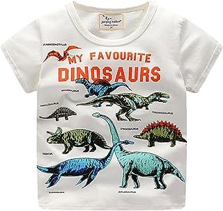 96ddd72fe5c6e Sunenjoy T-Shirt à Manches Courtes Bébé Garçon Filles Chemisier à Imprimé  Dinosaure Hauts Casual