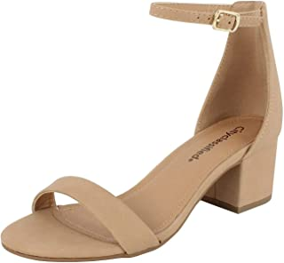a6be70398a5a City Classified Comfort Womens A3 Block Heel Dress Sandal Open Toe Ankle  Strap Heeled Sandals