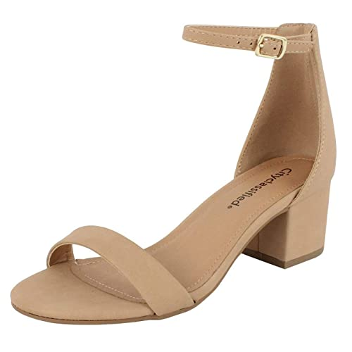 d53b52dd0714 City Classified Comfort Womens A3 Block Heel Dress Sandal Open Toe Ankle  Strap Heeled Sandals