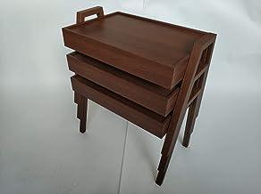طقم طاولات خدمة القهوة لون بني
