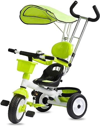connotación de lujo discreta Yuany Triciclo, Triciclo Multifuncional 3 en 1 para para para Niños, con toldo, Bicicleta de Tres Ruedas para bebé de 1-6 años Desmontable al Aire Libre, 2 Colors, 45x85x100cm (Color  verde)  genuina alta calidad