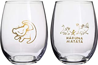Disney Classics Collectible Stemmless Wine Glass Sets - 16 Ounces - Set of 2 (Lion King)