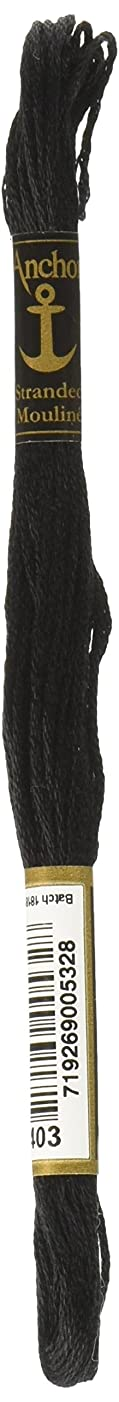 Anchor Six Strand Embroidery Floss 8.75 Yards-Black 12 per Box