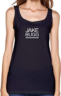 Womens Scoop Neck Sleeveless Tank Tops with Jake Bugg Printed T Shirt Sports Tops
