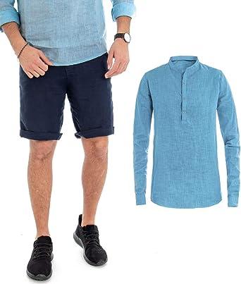 Giosal - Conjunto de Camisa y pantalón Corto para Hombre ...