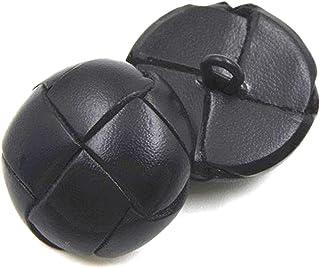 6 Bottoni Loden di Pelle Cuoio Colore Marrone Cuoio Diametro 2 cm.