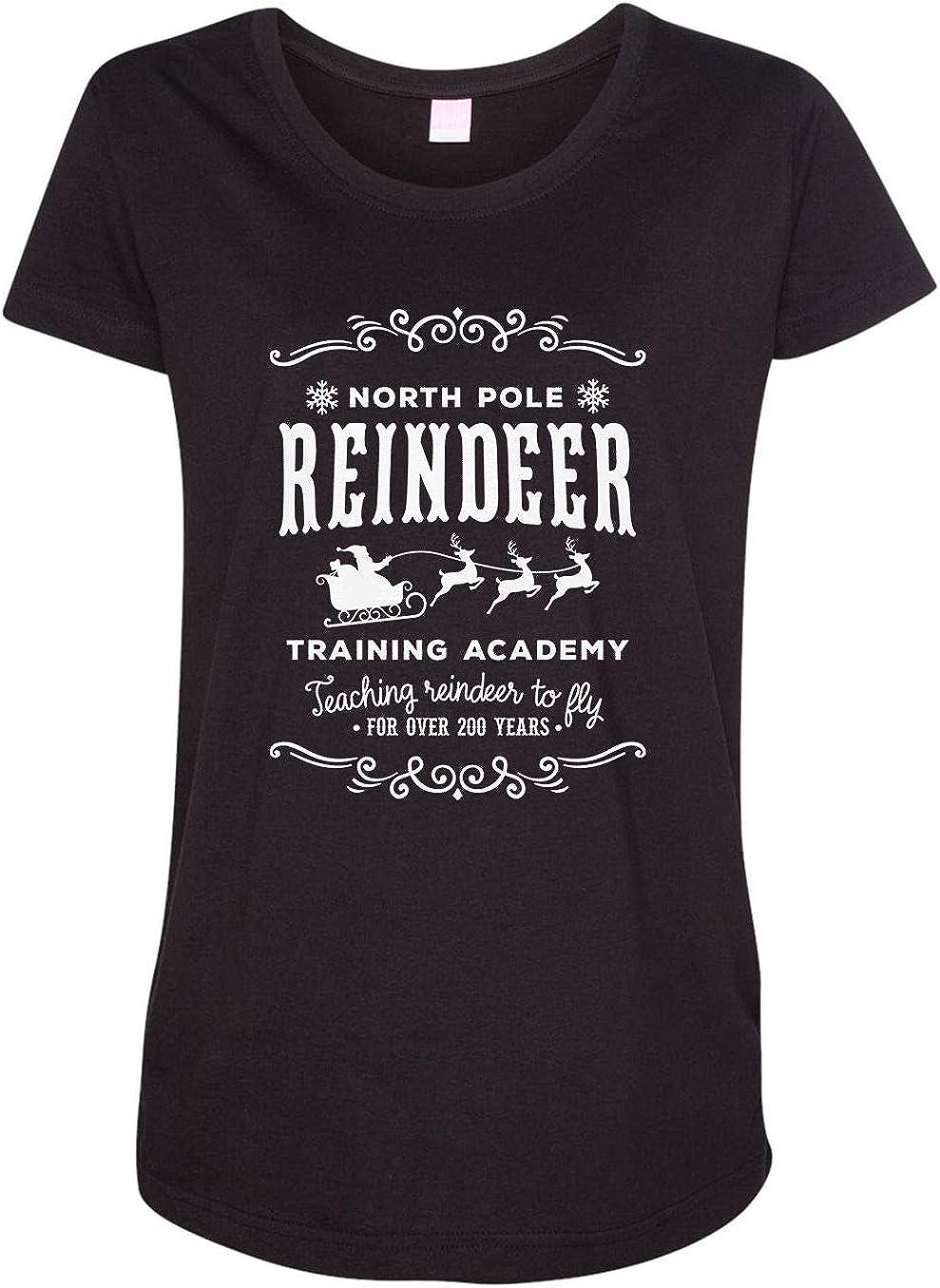 HARD EDGE DESIGN Women's North Pole Reindeer Training Academy T-Shirt