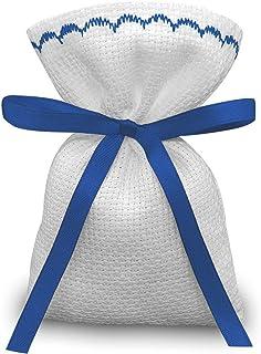 Crociedelizie, Stock 30 sacchetti bomboniere portaconfetti segnaposto in tela aida da ricamare a punto croce