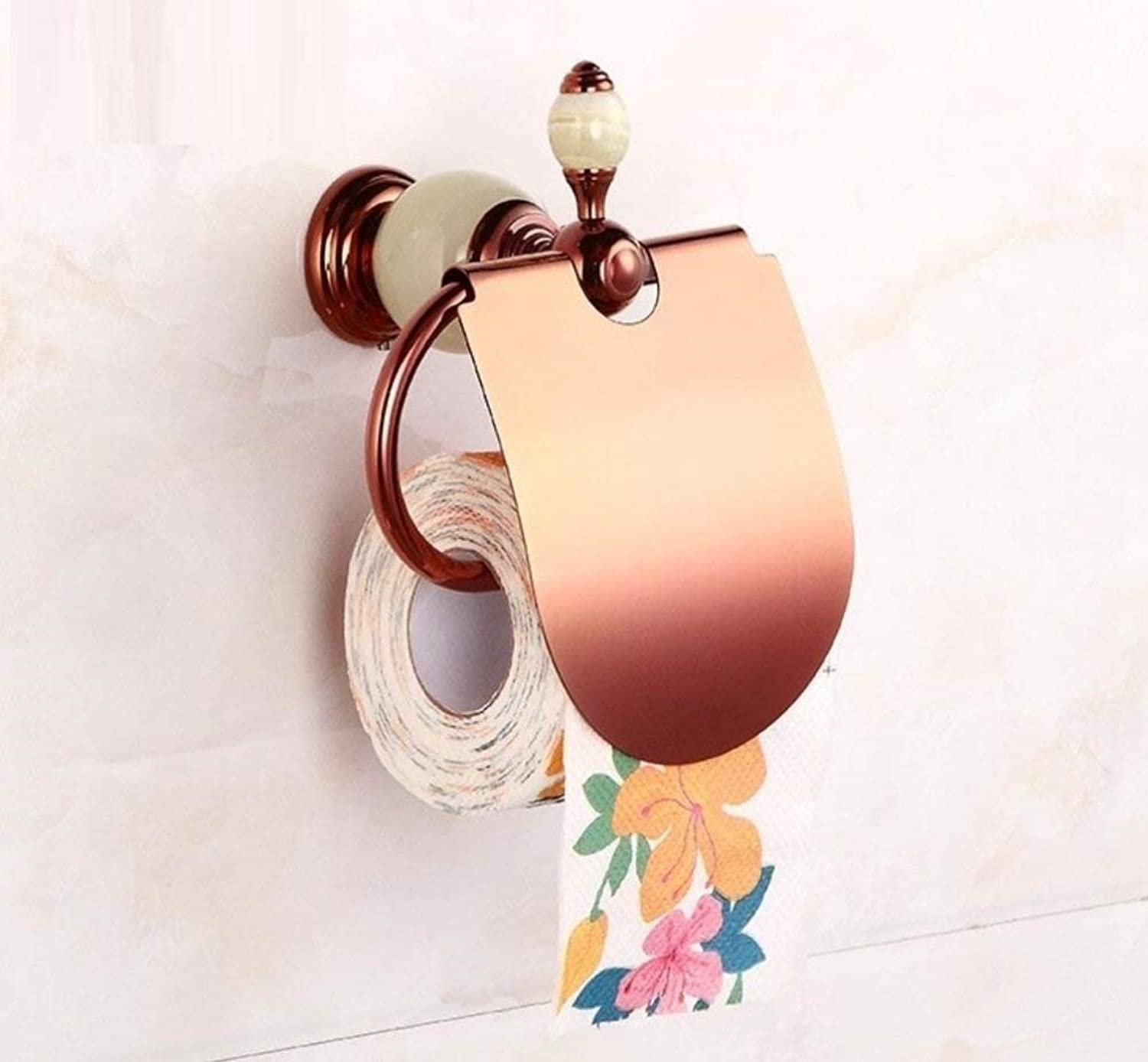 Top of The Range of European Style of All The Baths of Bronze Pink gold Toilet Paper Support Wall Towel-in Paper Decoration of Bathroom Equipment Handle