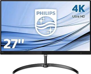 Philips 276E8VJSB, Monitor Uhd 4K (Resolución 3840 X 2160, Flickerfree, Lowblue Mode, 5Ms, IPS, Hdmi, Displayport), HDMI, 27 Pulgadas, Negro
