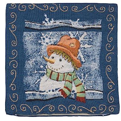 SALE Gorgeous Tapestry Christmas Cushion SNOWMAN DESIGN