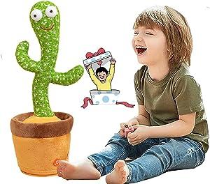 لعبة من القطيفة على شكل الصبار للرقص، الغناء والهز - تكرر كل ما تقوله، مع 120 اغنية انجليزية للاطفال (بدون بطاريات).
