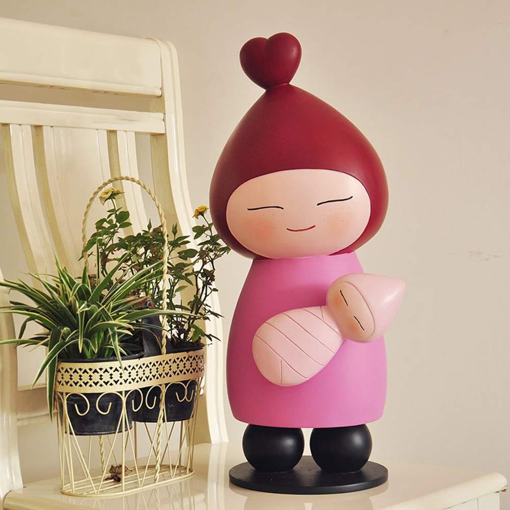 Estatua de la decoración del jardín Tienda de ropa comercial pequeña escultura creativa muchacha del jardín de la resina coreana niños de la historieta de la decoración de ornamento Decoración de pati: