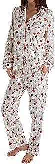 BedHead Women's Long Sleeve Classic Notch Collar Pajama Set