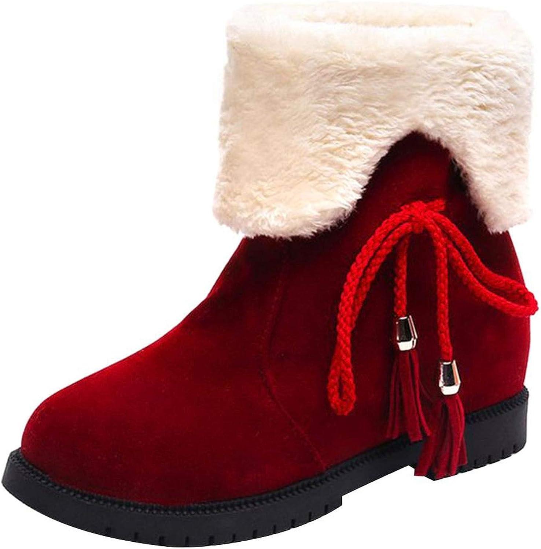 Ankle Boots for Women Snow Boots Winter shoes Warm Fur Platform Red color Wedge shoes de women Ankle Snow shoes Women Winter
