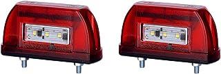 2 x 5 LED Kennzeichenleuchte 12V 24V mit E Prüfzeichen Nummernschildleuchte Kennzeichenbeleuchtung Kennzeichen Auto SMD Rück Hinten Paar LKW PKW KFZ