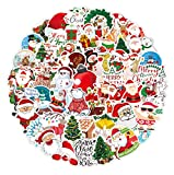 100 Pcs Christmas Stickers, Christmas Decorations Santa Snowflake Vinyl Stickers for Kids Merry Christmas Decorations Waterproof Stickers for Envelopes Gifts Tags Crafts Windows Snowboard