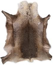 Lambland Grade A Luxury Reindeer Hide/Skin/Rug in Dark Shade Natural Colors