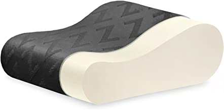 MALOUF Z Travel Size Memory Foam Molded Contour Neck Pillow-Luxurious Rayon from Bamboo Velour Washable Cover