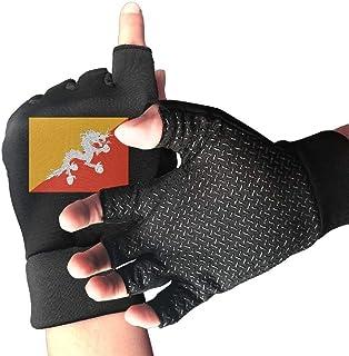 Bhutan Flag Men And Women Exercise Cycling Half Finger Non-slip Gloves Outdoor Sports Fitness Bike Gloves