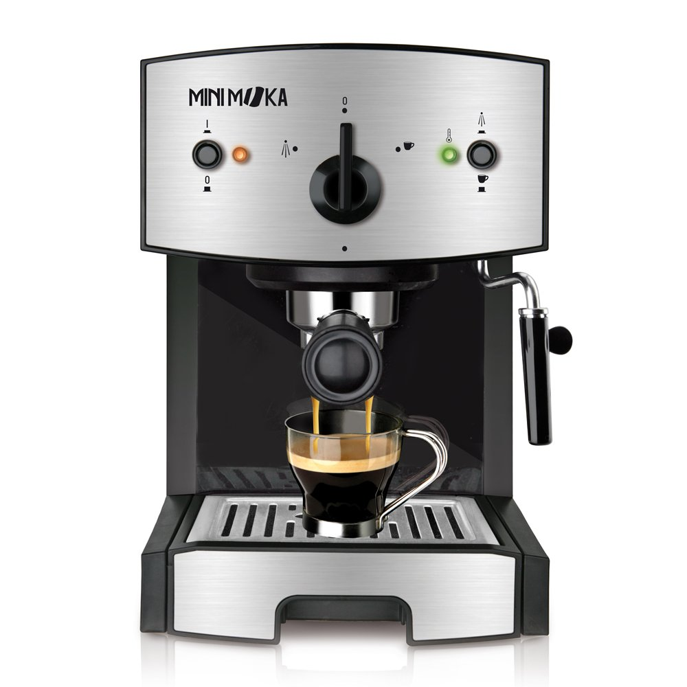 Mini Moka CM-1675 Cafetera Espreso 15 Bar / 1050 W / 1,25 L, 5.283441 cups, Acero inoxidable: Minimoka: Amazon.es: Hogar