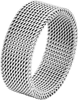 Stainless Steel Men's Comfort Fit Mesh Ring