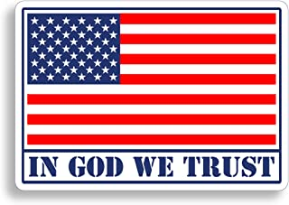 In God We Trust Sticker USA American Flag Decal Military Car Vehicle Window Bumper Patriotic Graphic