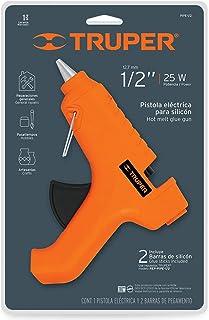 Truper PIPE-1/2 Pistola eléctrica para silicon, 25W, 1/2&am