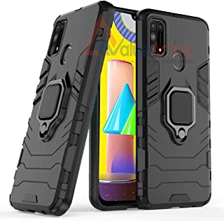 ValueActive Covers and Cases for Samsung Galaxy M31 Case Back Cover Rugged Armor TPU + PC Hybrid Kickstand Back Case/Cover with Ring Holder Designed for Samsung Galaxy M31