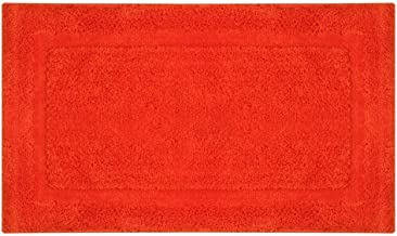 ESUPPORT Solid Colors Bath Mats Soft Water Absorbent Microfiber Rugs Shower Bathroom Floor Mat Non Slip, 20.8 x 33.8/Orange