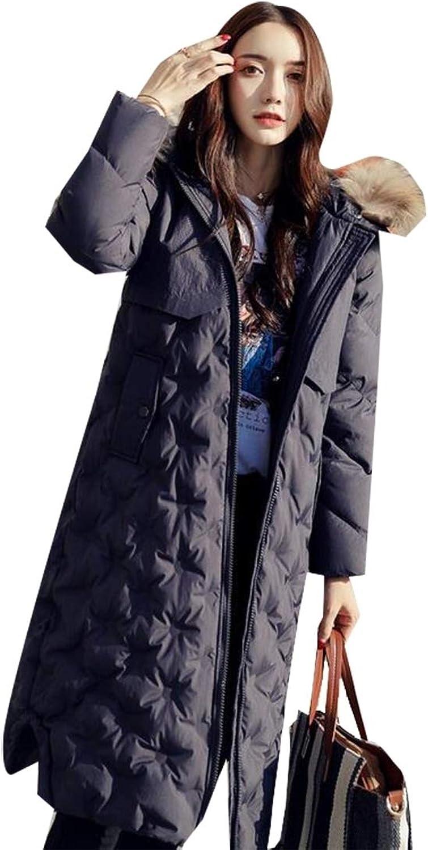GAGA Women's Down Alternative Puffer Coat ZipOff Plush Lined Fur Trim Hood