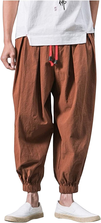 Men Max Popular 79% OFF Loose Solid Color Polyester Stretchy Genie Harem Baggy Yoga