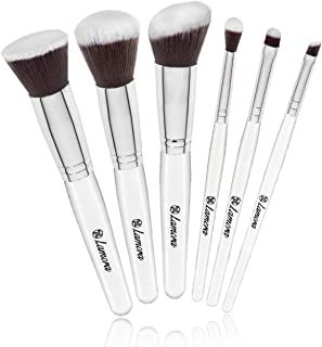 Powder Blush Foundation Kabuki Eyeshadow Brush Set - 6 Piece Essential Makeup Brushes Kit - Top Choice Premium Quality Synthetic Bristles - Apply Your Flawless Airbrushed Finish