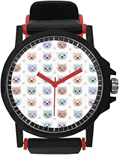 Birthday Decorations Unisex Silicone Watch,Colorful Balloons with Reflections Festive Surprise Occasion Joyful for Unisex,Diameter(Watch face): 1.5