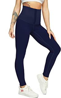 STARBILD Womens High Waist Adjustable Breasted Corset Shaper Leggings Stretch Workout Yoga Pants Tummy Control Tights