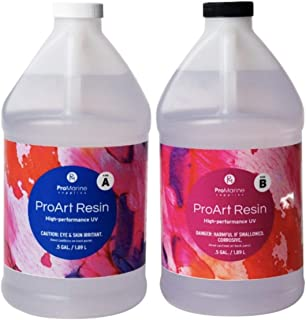 ProMarine Supplies Art Resin – 1 Gal Pro Art Resin Kit – Art Resin Epoxy Clear – Easy to Use and Non-Toxic Formula – High ...