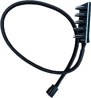 N / A Cable de extensión de Ventilador PWM de 4 Pines Convertidores de 1 a 5, Cable Divisor de Ventilador de 5 Puertos para enfriadores de CPU Ventiladores de 4 Pines y Ventiladores de 3 Pines