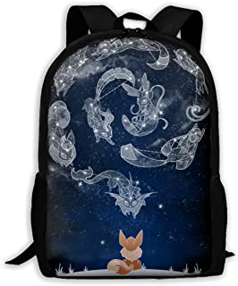 Rnlika Eevee Constellation Kid's School Backpack Durable Lightweight Elementary Students Bookbags Daypacks for Boys&Girls