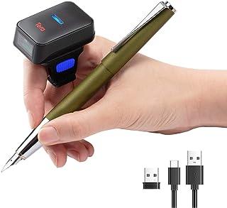 Tera リング式バーコードスキャナー 1次元コード対応 液晶画面コード対応CCD USB有線 2.4GHz Bluetooth対応 日本語取扱書 電波法認証取得 HW0011