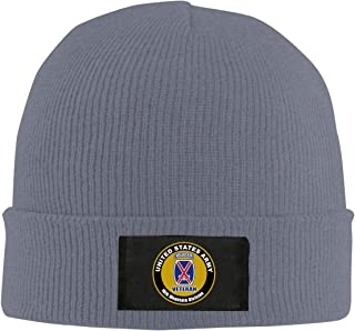 ZHIJIKNITHAT 10th Mountain Division Unisex Warm Winter Hat Knit Beanie Skull Cap Cuff Beanie Hat Winter Hats