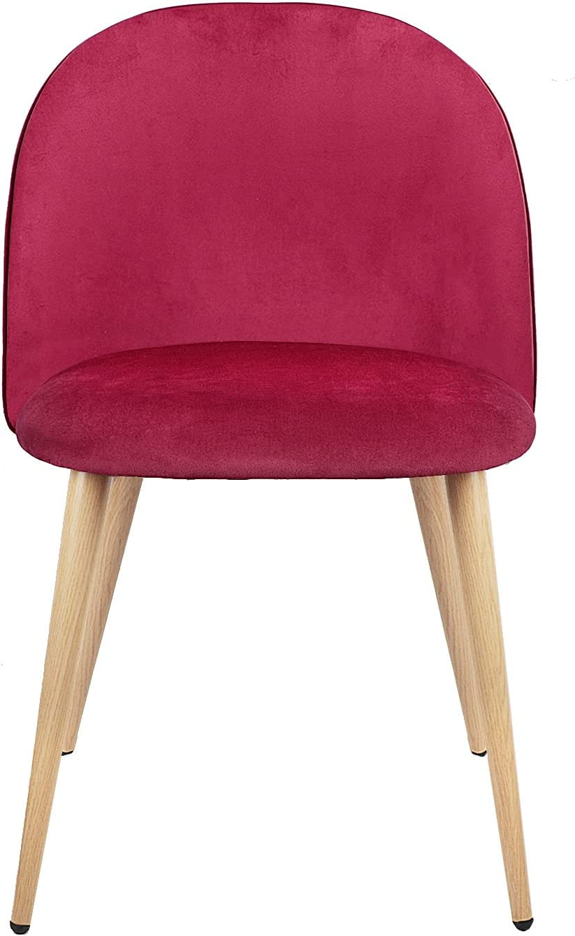 KIILING Set Special price of 2 Exquisite Kitchen Bedroom Velvet Chair Dining NEW before selling ☆